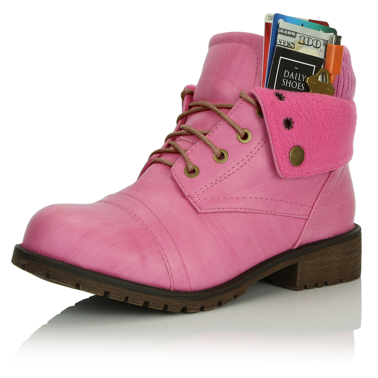 DailyShoes Boots Ankle Flat Ankle Pocket Boot CSLRound-3mm-4