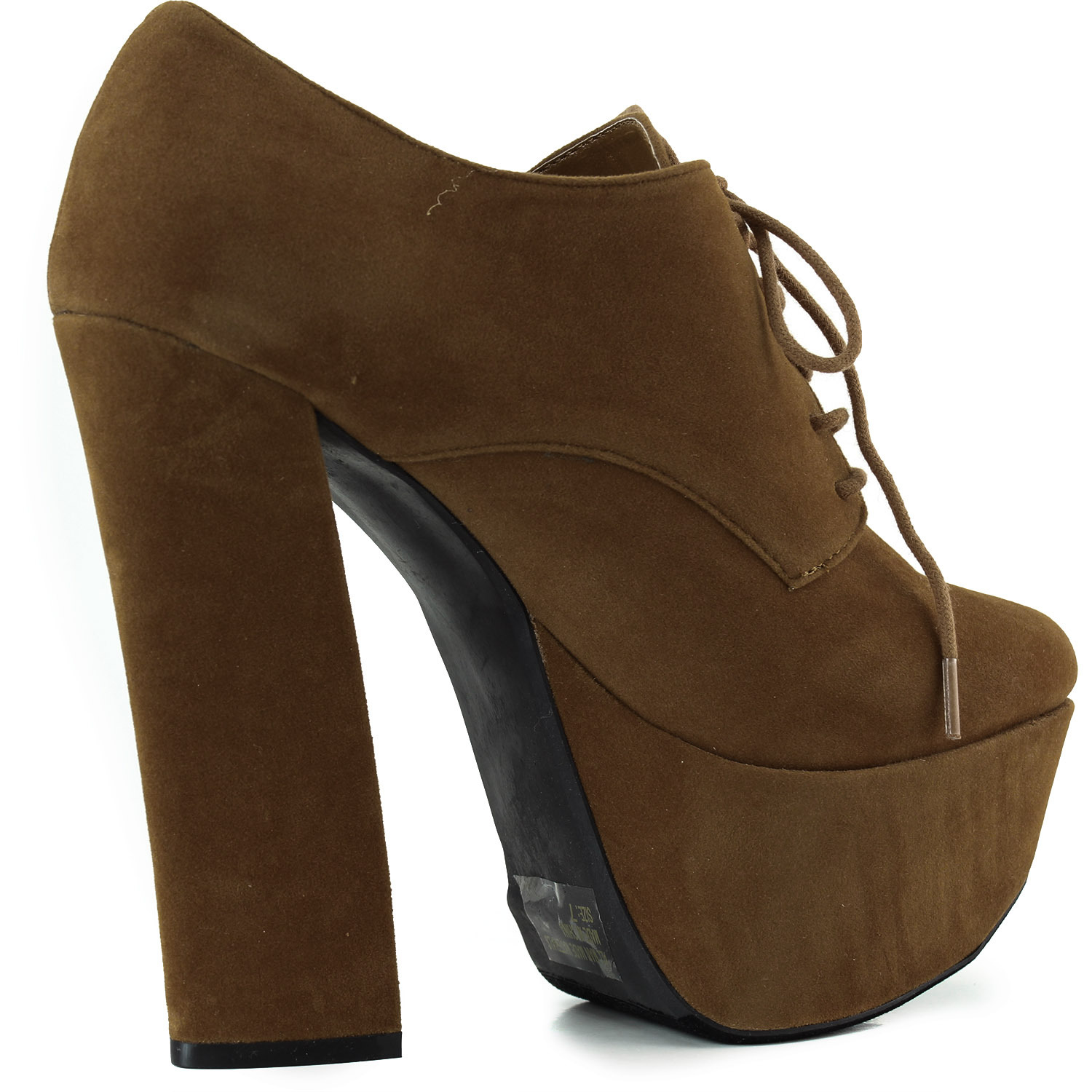 platform laced up ankle thick chunky high