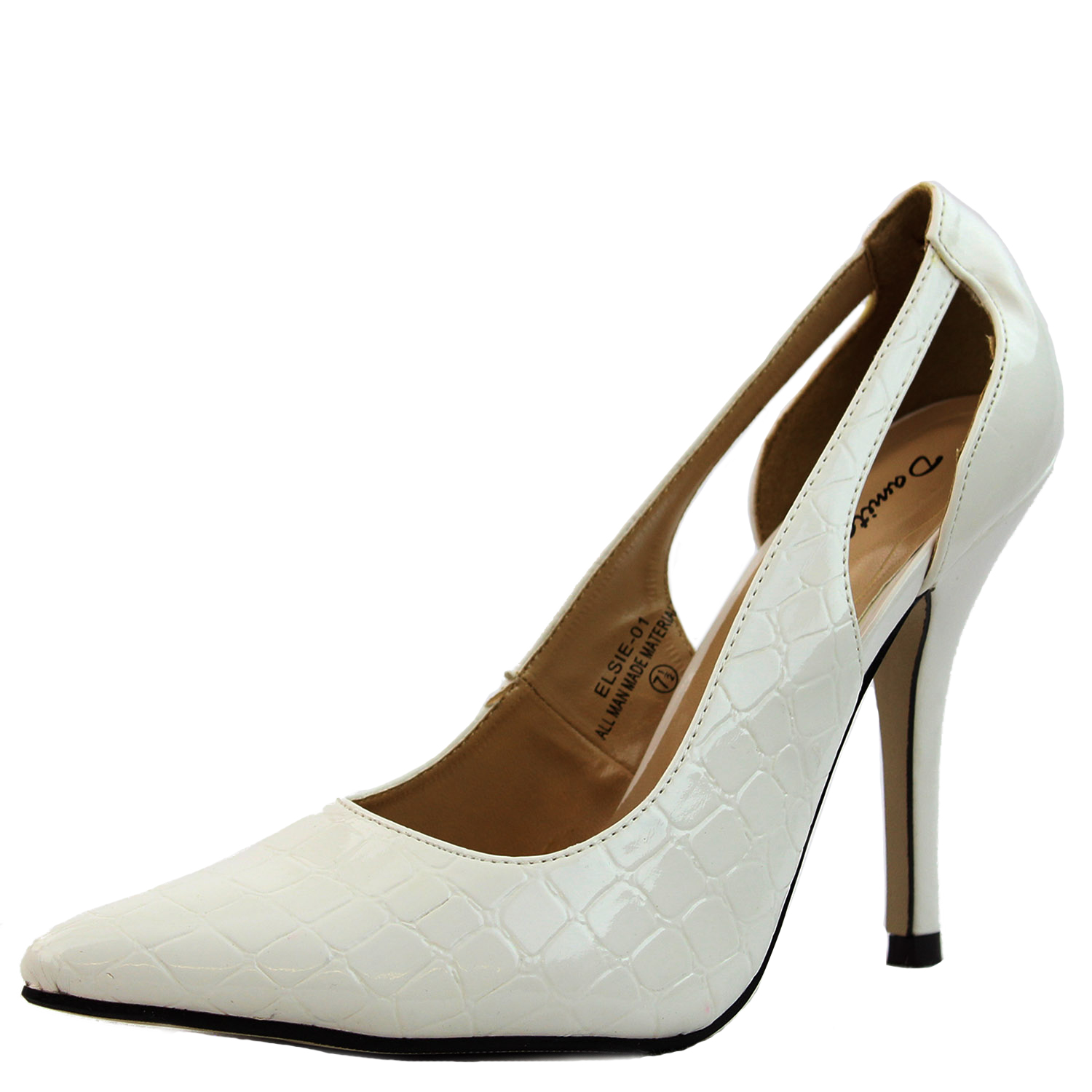 Damita K Women's Sexy Pointy Toe High Heel Pumps Half Patent Leather Slingback Wrap Ankle Office Fashion Shoes at Sears.com
