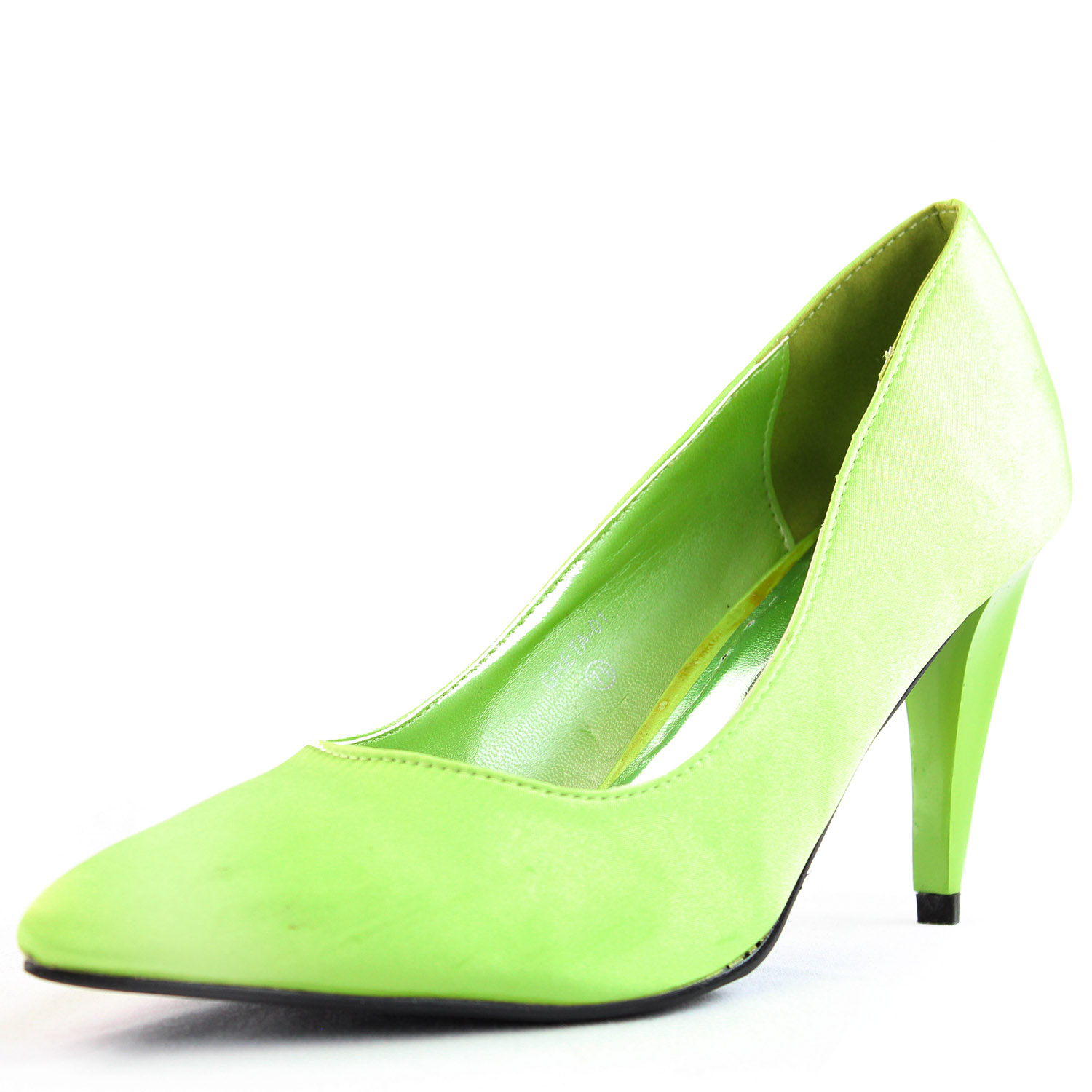 mint green satin almond toe pumps pointed toe high heels
