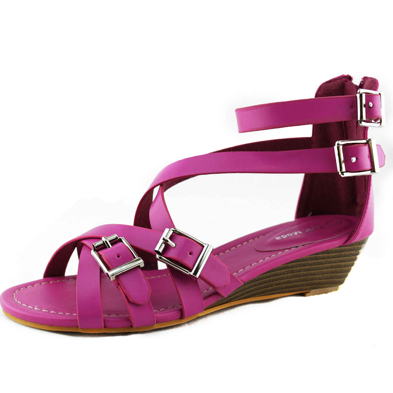 Low Heel Strappy Dress Shoes
