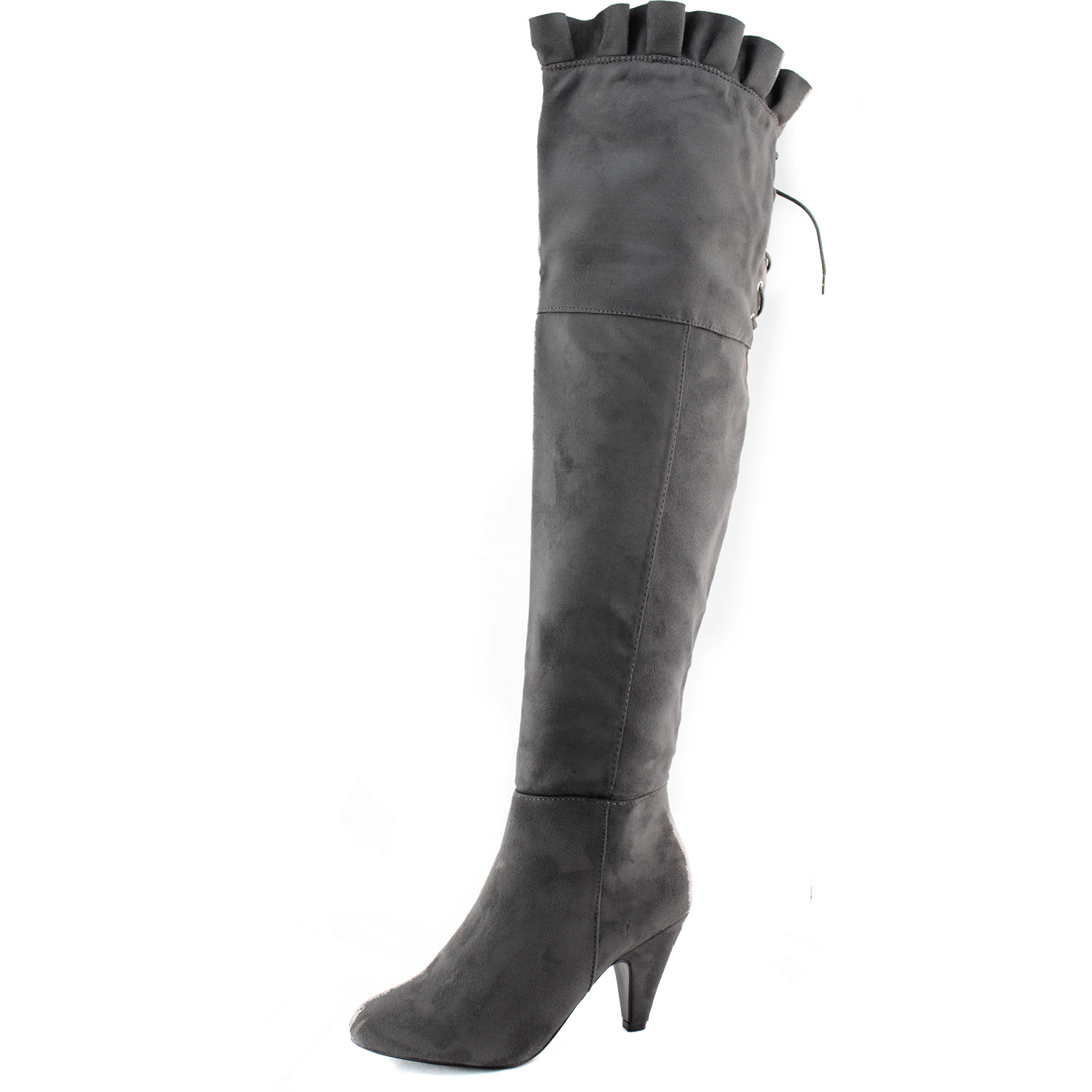 knee slouch casual mid calf thigh high heel
