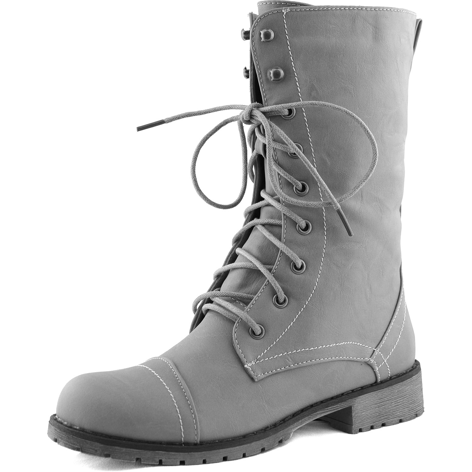 Womens Grey Lace Up Boots