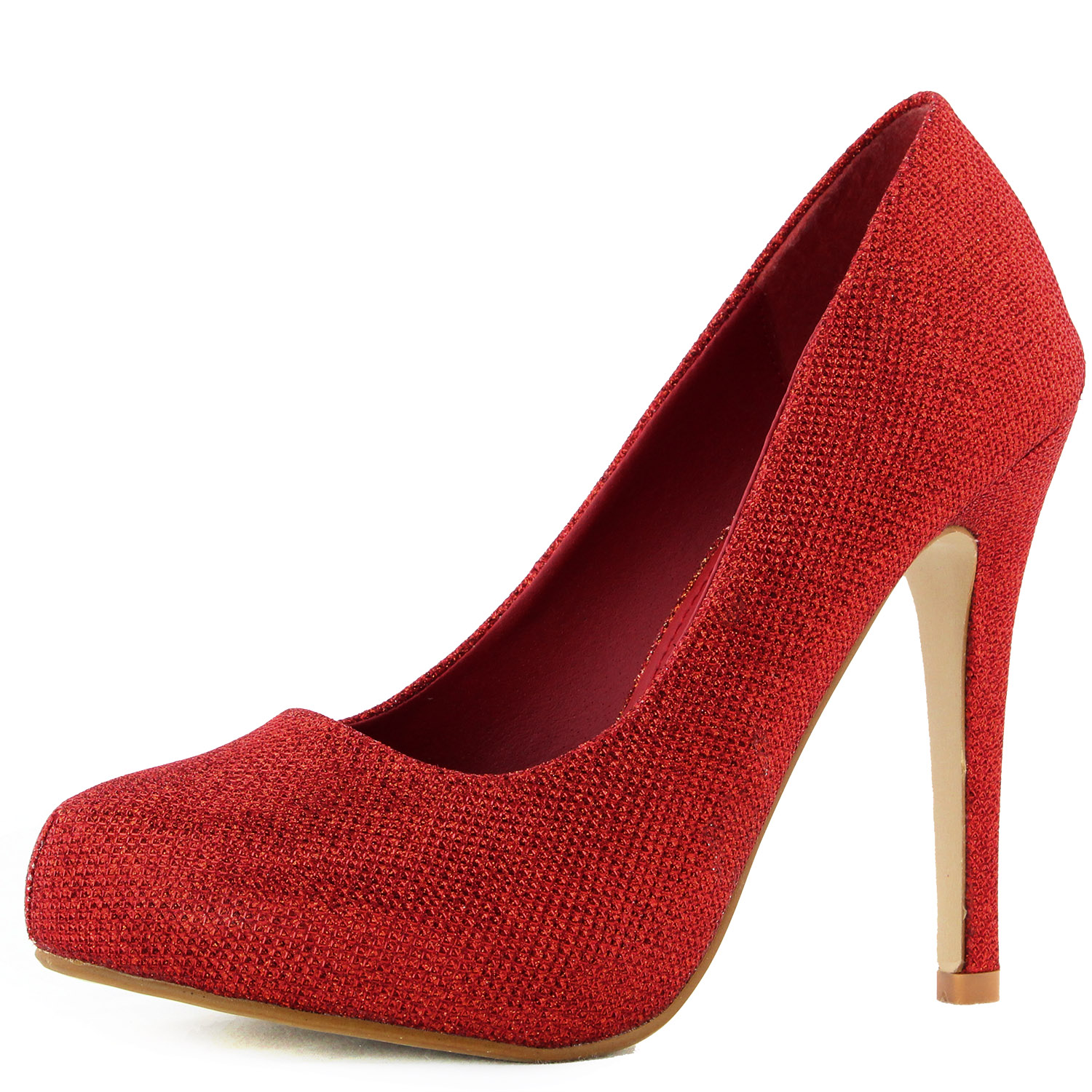 Red Sequin Heels | Tsaa Heel